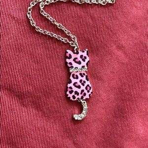 FREE with Kids purchase Justice Cat Necklace